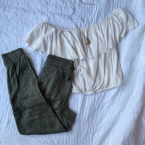 olive cargo pants new with tags